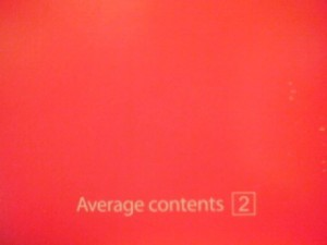 Average Contents