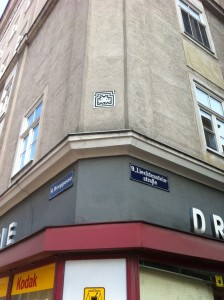 Space Invader - Berggasse/Liechtensteinstraße