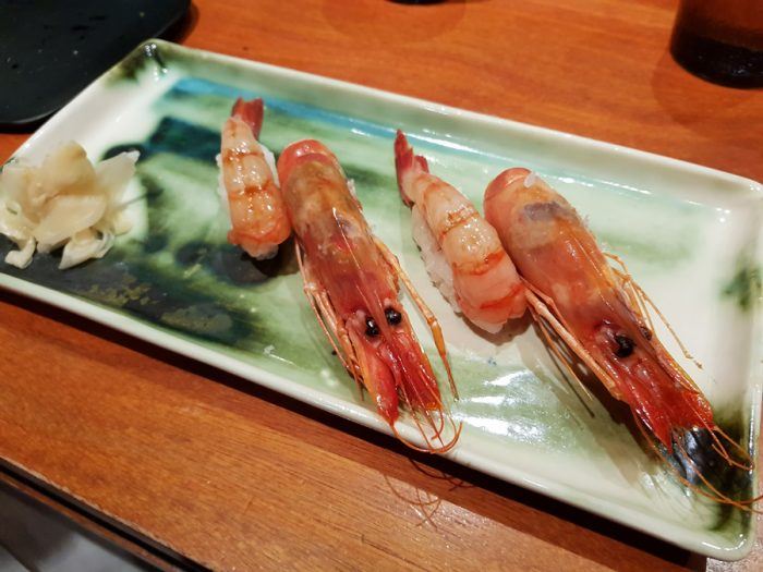 Shrimp Nigiri plus head