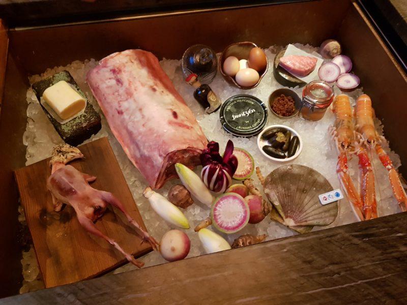 The ingredients on display