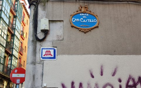 Space Invader - Calle General Castillo, Bilbao