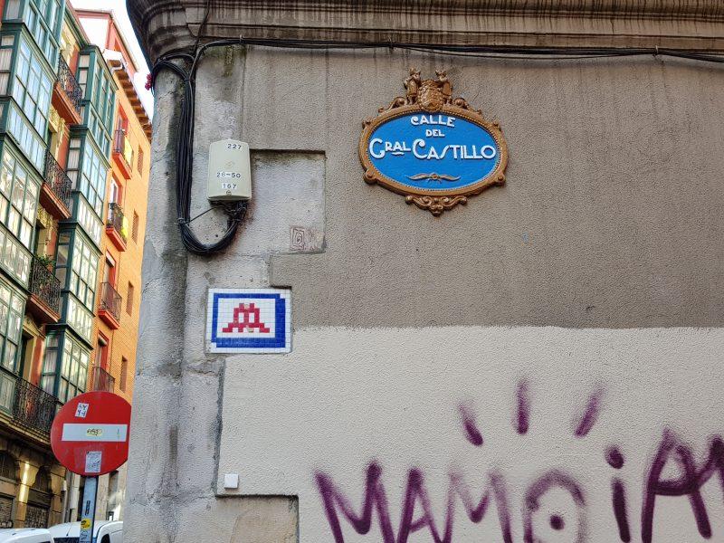 Space Invader - Calle General Castillo, Bilbao