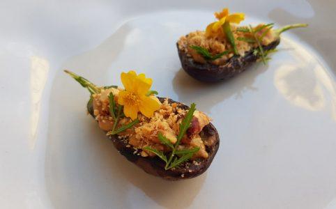 Eggplant | Miso | Hazelnut | Marigold