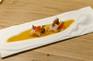 "Mixed tiradito with ""ají amarillo"""