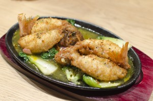 "Fried rockfish with ""escabeche"" sauce"