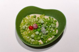 Green salad: peas, liquorice and fennel