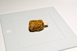 Foie gras crunch with Traditional Aceto Balsamico di Modena