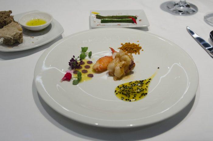 Lobster with bee's pollen | Sauteed lobster with fresh pollen, sweet and acidic flavours with blue honeycomb