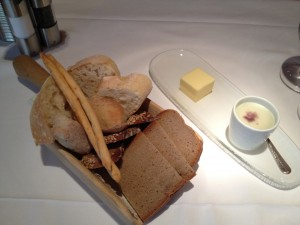 Bread, butter and liver pâté