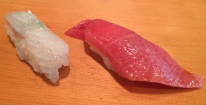 Sea bass with salt and chu-toro