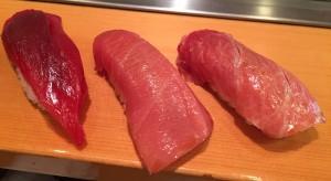 Tuna trinity - Magura, chu-toro, o-toro