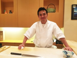 Sushi chef Sakamoto