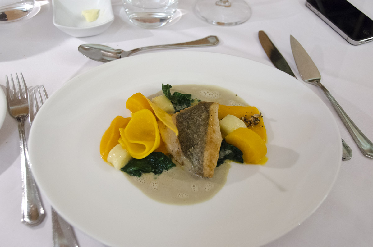 John Dory fillet with pumpkin and sage gnocchi