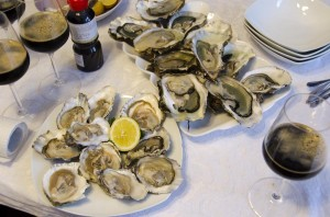 Oysters - a lot of them (Fine de Claires, Belon, Gillardeau)