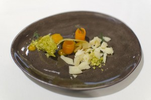 Aged cheese by Ignatz Feuerstein, carrot, pistacchio, anise
