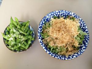 Edamame and Sakura salad