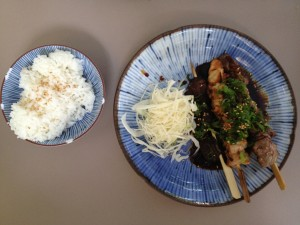 Skewers: Chicken, Beef, Shiitake