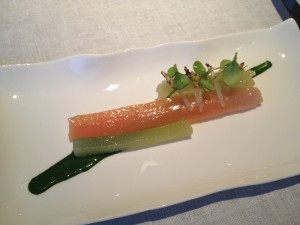'Schwarzauer Mountain Trout' with Melon, Cucumber and Borage