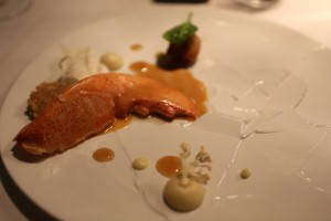 Lobster,  sweetbread – Dashi - cauliflower