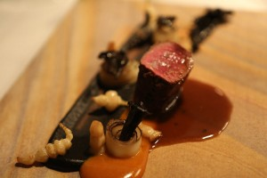 Saddle of venison, black salsify – puntarelle