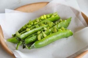 Peas, camomille, pine