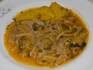 Tripe with polenta