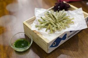 Seaweed Tempura with Seaweed Sauce