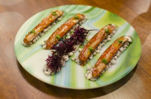 Razor clams with tomato