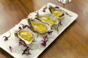 Oysters and white sauce escabeche