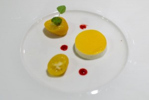 Curd and kumquat